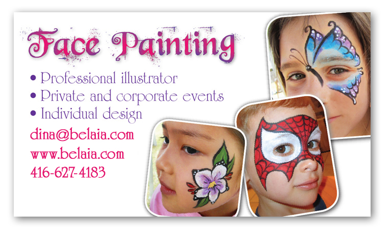 Dina belaia face paining for Face painting business